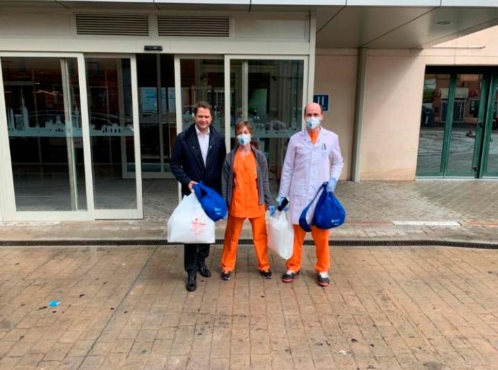 Nueva entrega de material de protección contra el coronavirus al Hotel Medicalizado Marriot Auditorium
