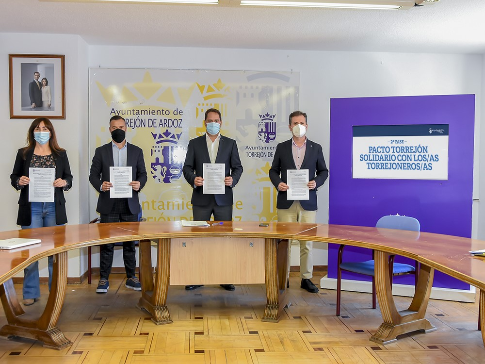 Hoy se ha aprobado la 2ª fase del Pacto Torrejón Solidario con los/as torrejoneros/as