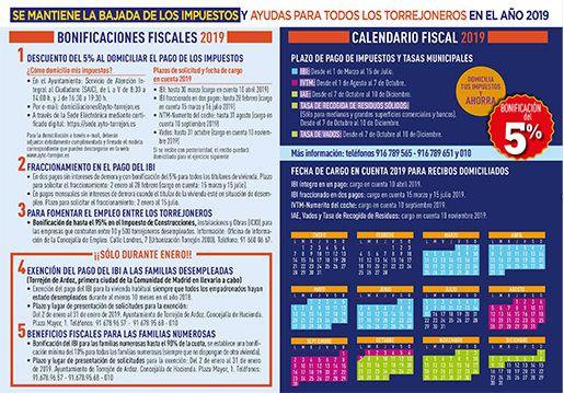 Calendario Fiscal 2019 Espana.Bonificaciones Fiscales 2019 Ayuntamiento De Torrejon